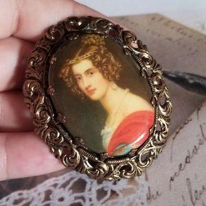 Beautiful VTG Victorian Lady Brooch